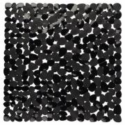 Mata łazienkowa Pebble 54x54cm czarna Galicja