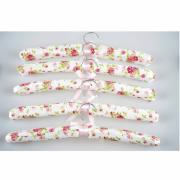 Wieszaki tekstylne na odzież Rose, 5 sztuk VESPERO