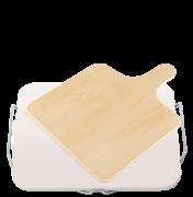 Ceramiczna podstawka do pizzy, prostokątna 38 x 30 cm,z drewnianą łopatką Leifheit 3160