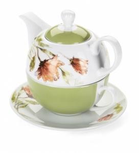 Tea For One dzbanek do herbaty i kawy ze spodkiem Florina Floris 3-elementowy 2K2355