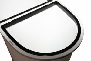 Kosz do segregacji odpadów MELICONI Ecobin 50L BIAŁY