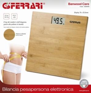 Waga łazienkowa bambusowa G3Ferrari G30019