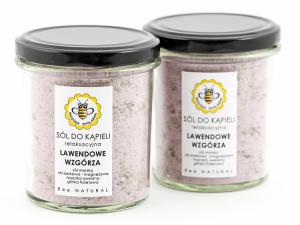 Sól do kąpieli - Lawendowe wzgórza, Miodowa Mydlarnia