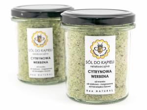Sól do kąpieli - Cytrynowa werbena, Miodowa Mydlarnia