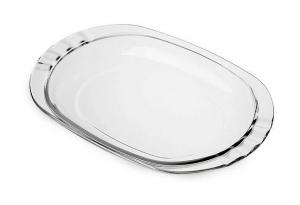 Szklany talerz z pokrywką 27x19 cm Bormioli Rocco Frigoverre Basic 3T0027